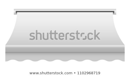 Stock photo: White awning. Realistic canopy for store.