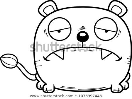 Cartoon triest welp illustratie meisje baby Stockfoto © cthoman