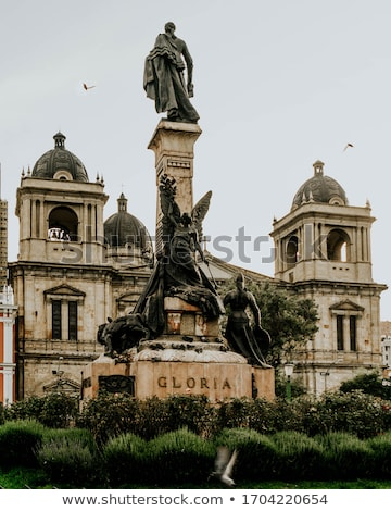 Monument to Pedro Domingo Murillo in La Paz, Bolivia Stock photo © boggy