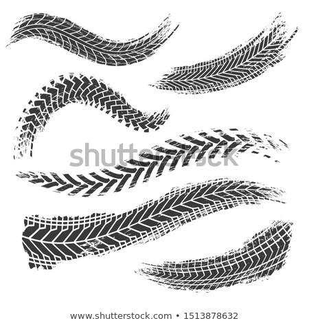 Résumé noir pneu imprimer texture sport Photo stock © SArts