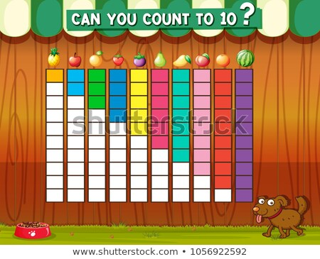 counting to ten with different fruits stock photo © colematt