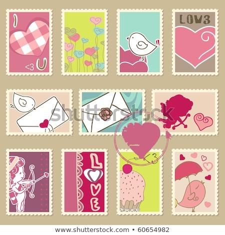 Símbolo amor valentine cartão postal aves Foto stock © robuart