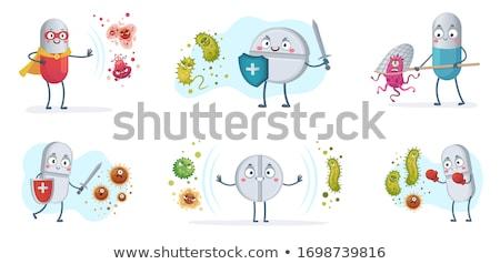 vector set of pill cartoon stock photo © olllikeballoon