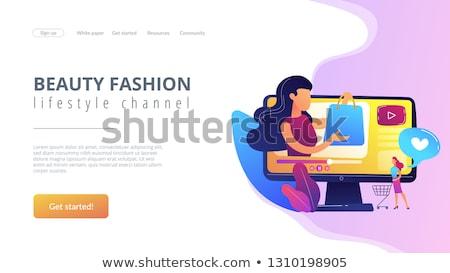 Shopping sprees video concept landing page. Stock photo © RAStudio