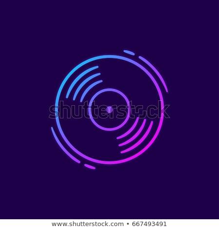 lemez · ikon · vektor · izolált · fehér · szerkeszthető - stock fotó © smoki