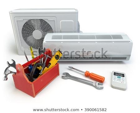 légkondicionáló · illusztráció · szett · egészség · hideg · forró - stock fotó © Blue_daemon