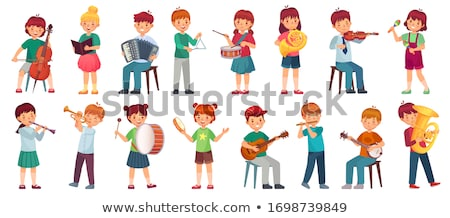 children playing instruments and sing stock photo © colematt