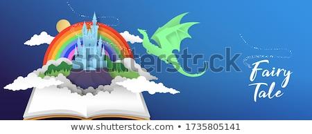 Vecteur livre ouvert conte de fées histoire cartoon conte de fées Photo stock © VetraKori