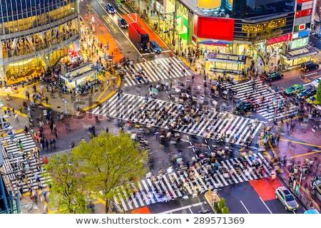 Tokio Japón caminando personas famoso Foto stock © alphaspirit