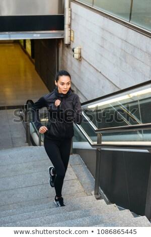 удивительный концентрированный молодые азиатских спортивных женщину Сток-фото © deandrobot