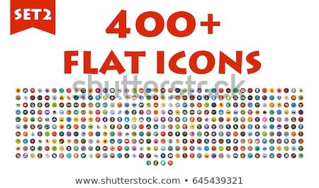 Milk flat icons set Stock photo © netkov1