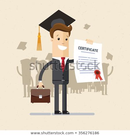 Сток-фото: Student Academic Qualification Certificate Vector