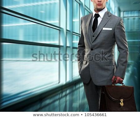 Elegáns bankár fiatal sikeres afrikai bankár Stock fotó © pressmaster