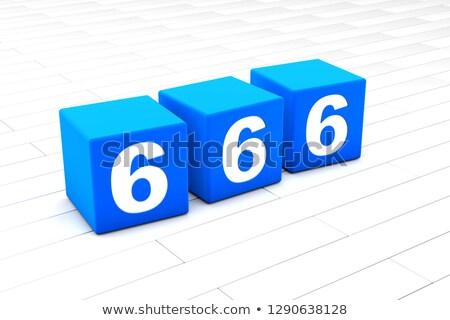 Ilustração 3d simbólico número projeto carta diabo Foto stock © Spectral