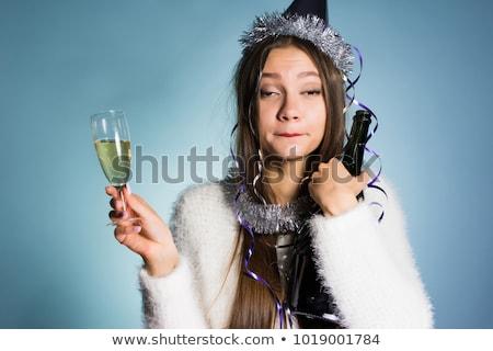 Genç kız sarhoş arkadaşlar örnek genç kız erkek Stok fotoğraf © lenm