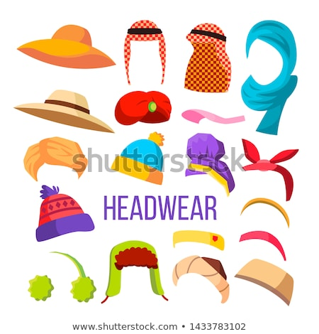 Multicultural And Season Headwear Hat Set Vector Stock photo © pikepicture