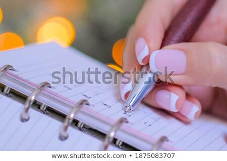 Meşgul müdür notlar organizatör genç Stok fotoğraf © pressmaster