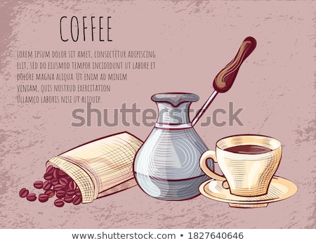 Caffeine Drink, Metal Pot, Mug with Handle Vector Stock photo © robuart