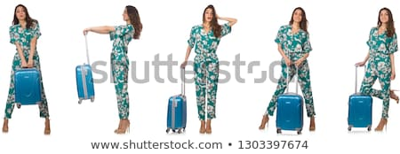The woman with suitacases preparing for summer vacation Stock photo © Elnur