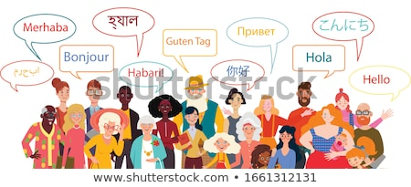 linguagem · mulher · jovem · sessão · livros · moço · trabalhando - foto stock © rastudio
