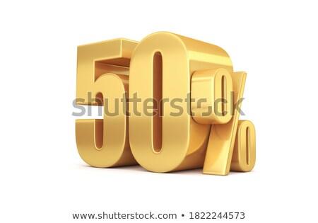 Fünfzig fünf Prozent weiß isoliert 3D-Darstellung Stock foto © ISerg