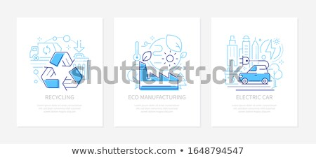 waste recycling   set of vector web pages stock photo © decorwithme