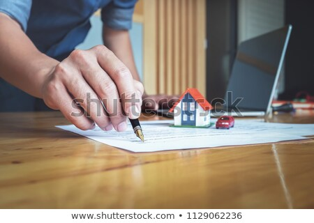 home · hypotheek · financiering · 3D · gebouw · abstract - stockfoto © freedomz