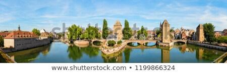 Brug middeleeuwse gebouw reizen stedelijke Stockfoto © borisb17