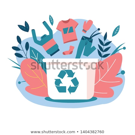 Clothes Recycle, Clothing Donation, Garbage Vector Stock photo © robuart