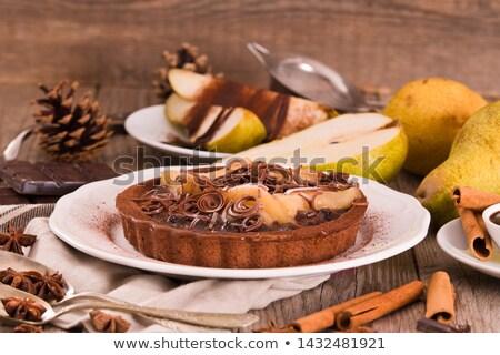 Frutas frescas torta bolo peras fresco maçã Foto stock © BarbaraNeveu