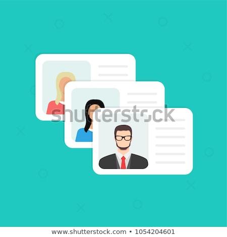 アイコン 文書 個人 情報をもっと見る データ 写真 ストックフォト © ussr