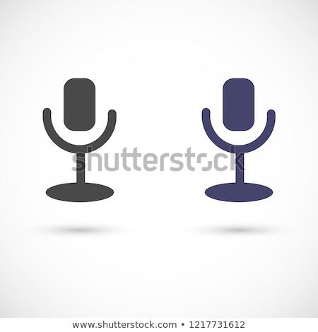Podcast radyo elemanları vektör hareketli Stok fotoğraf © pikepicture