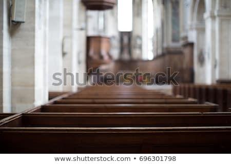 Kerk interieur licht begrafenis donkere stralen Stockfoto © albund