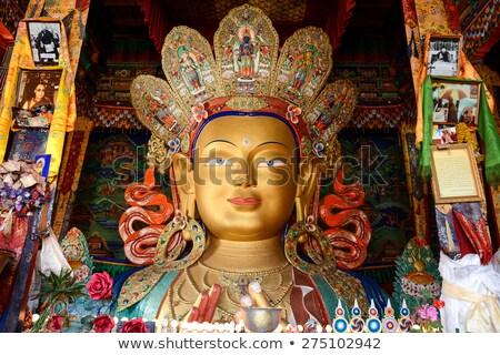 Buda heykel manastır yüz altın Stok fotoğraf © dmitry_rukhlenko