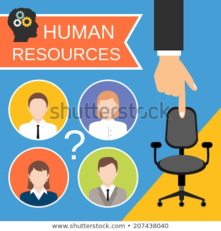 Human Resources Management Promo Poster Vector Stock photo © pikepicture