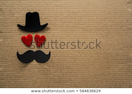 two heart design for happy fathers day Stock photo © SArts
