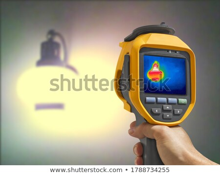 Thermal image, Lighted classic lamp on the wall Stock photo © smuki