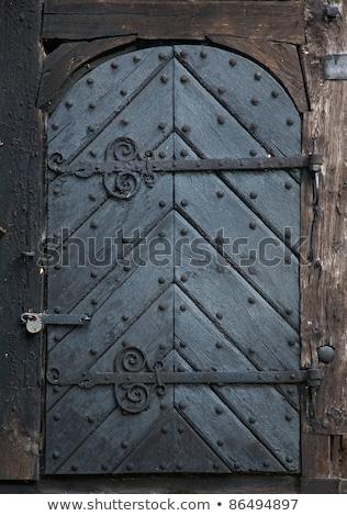 Medieval porta trancar buraco de fechadura Foto stock © lunamarina