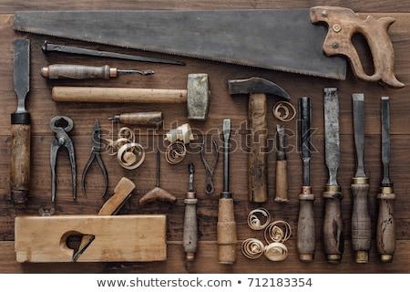 древесины плоскости коллекция белый работу инструментом Сток-фото © premiere