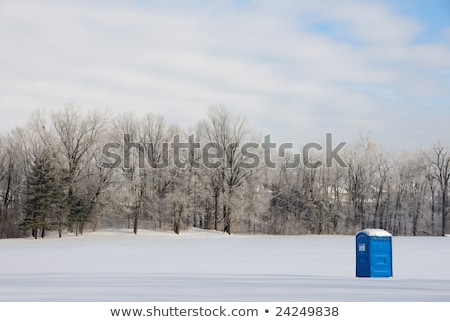 Blue Porta Potty in a woods Stock photo © mybaitshop