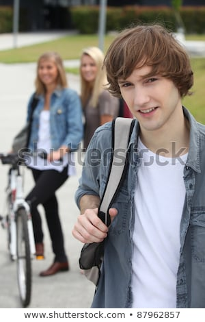 Three teenagers arriving at college Stock photo © photography33