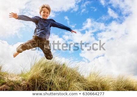 criança · feliz · saltando · diversão · enérgico - foto stock © lovleah