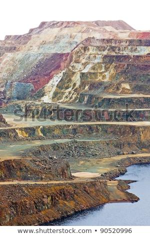 cobre · mina · España · paisaje · escalera - foto stock © phbcz