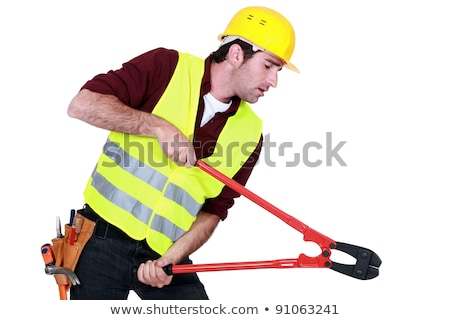 Tradesman using a pair of clippers Stock photo © photography33