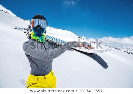 nő · kereszt · vidék · síel · téli · sport · hó - stock fotó © photography33