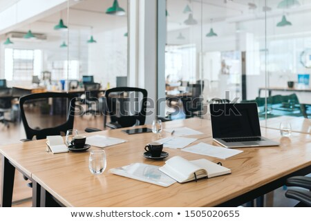 office supply on table after business meeting stock photo © candyboxphoto