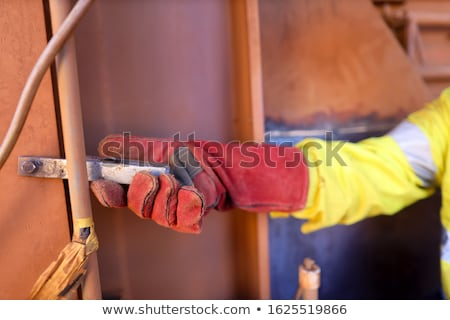 Stockfoto: Elektricien · lang · kabel · gebouw · home · technologie