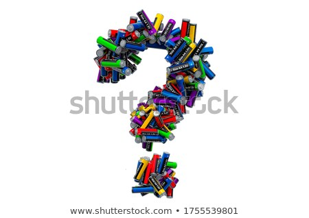 question sign in colour cilinders Stock photo © marinini