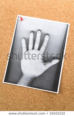 Kéz közlöny tábla lélek spirituális kommunikáció Stock fotó © devon