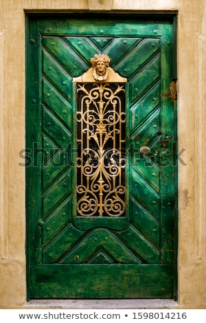 Stock photo: wooden castle gate